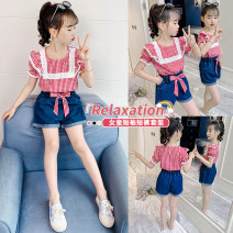 suit 2 pieces Condom children Shopping 62547 14, 3, 5, 9, 12, 7, 8, 6, 13, 11, 4, 10 Other / other summer female lattice other leisure time Thin There are models in the real shot Two piece set No detachable cap Class B Other 100% Chinese Mainland Huzhou City Zhejiang Province red