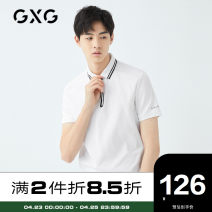 Polo shirt GXG Youth fashion thin white 165/S 170/M 175/L 180/XL 185/XXL 190/XXXL standard Other leisure summer Short sleeve routine youth Cotton 100% cotton Summer of 2019 Same model in shopping mall (sold online and offline) More than 95%