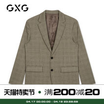 man 's suit Gag GXG Business gentleman routine 165/S 170/M 175/L 180/XL 185/XXL 190/XXXL GY101592E Polyester fiber 79.3% viscose fiber (viscose fiber) 19.2% polyurethane elastic fiber (spandex) 1.5% Autumn of 2019 Self cultivation Double breasted go to work No slits youth Long sleeves autumn routine