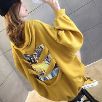 Sweater / sweater Autumn of 2019 Yellow, black, green M L XL XXL Long sleeves routine Socket singleton  routine Crew neck easy commute routine Cartoon animation 18-24 years old 71% (inclusive) - 80% (inclusive) Naris  Korean version polyester fiber nylon Cotton liner Polyester 75% cotton 25%
