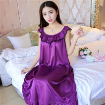 Nightdress Devley 818 deep purple, 818 deep blue, 818 pink, 818 bright red, 818 bean paste, 818 black, 818 light purple, 818 watermelon red, 818 champagne gold L [100-120 Jin], XL [120-140 Jin], 2XL [140-160 Jin], 3XL [160-180 Jin], 4XL [180-200 Jin], 5XL [200-220 Jin], 6xl [220-230 Jin] sexy pajamas