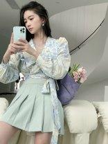 skirt Spring 2021 XS,S,M Khaki, dark carbon grey, mint green CC0418