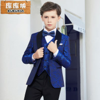 Suit / Blazer Kuku male There are models in the real shooting Britain No season A button routine Cotton blended fabric Class C Polyester 100% KS605 Autumn of 2018