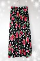 skirt Spring of 2018 The average skirt length is about 85CM Decor longuette grace Natural waist Irregular Decor Type A cotton