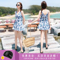 one piece  Zhuo Haozi M [recommended 80-95 kg] l [recommended 95-110 kg] XL [recommended 110-120 kg] 2XL [recommended 120-140 kg] 3XL [recommended 140-155 kg] Skirt one piece With chest pad without steel support polyester fiber Summer of 2019 no female Sleeveless Casual swimsuit Scenery other