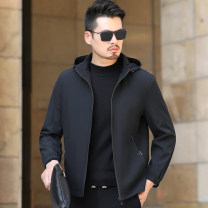 Jacket Cool light Business gentleman Black Khaki black with cotton thickened Khaki with cotton thickened 170/M 175/L 180/XL 185/2XL 190/3XL 195/4XL routine standard Other leisure autumn HYXYJK-9917 Polyester 100% Long sleeves Wear out Detachable cap Business Casual middle age routine Cloth hem