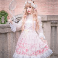 Dress Summer of 2019 Dress + headdress S M L XL XXL XXXL Mid length dress Long sleeves Sweet High collar middle-waisted Broken flowers Princess Dress Wrap sleeves Others 18-24 years old Type A Cherry love L20C190087 More than 95% Chiffon polyester fiber Polyester 100% Bohemia