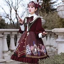 Hanfu 96% and above Spring 2021 OP skirt + headdress + shawl collar S M L XL XXL XXXL polyester fiber