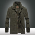 Jacket Bonchase / Bocheng Fashion City Military green card Black Military Green Plush thickened Khaki Plush thickened black Plush thickened M L XL 2XL 3XL 4XL routine easy Other leisure autumn Cotton 100% Long sleeves Wear out stand collar Military brigade of tooling youth Medium length Cloth hem