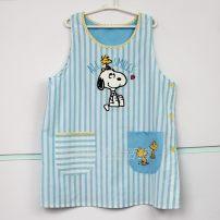 apron Blue stripe Sleeveless apron antifouling Cartoon Average size public Cartoon