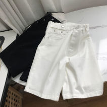 Casual pants White 1, black 2 S,M,L,XL Spring 2021 Pant Straight pants High waist commute routine 18-24 years old 30% and below SS111492 cotton Korean version cotton