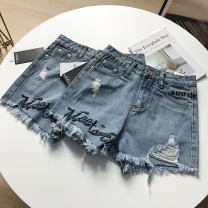 Jeans Summer 2020 blue S,M,L,XL,2XL shorts High waist Straight pants routine 18-24 years old other light colour SS107091 30% and below