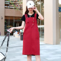 Dress Summer 2021 S M L XL XXL Short skirt singleton  Sleeveless Sweet square neck High waist Solid color Socket A-line skirt other straps 18-24 years old Type A Cotton sinus More than 95% Denim cotton Cotton 100% college Pure e-commerce (online only)