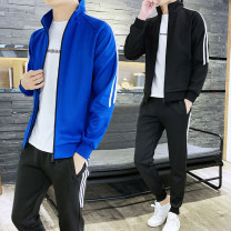 Leisure sports suit spring M L XL 2XL 3XL 4XL 105 black 105 blue 105 red 105 white 918 black 918 red 918 yellow Long sleeves Bincheng trousers teenagers Sweater Locke 15 bulls
