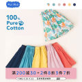 skirt 90cm 100cm 110cm 120cm 130cm Fantasy rainforest full of sunlight and honey full of light pink rose lava coral red gray lake green You LAN female Cotton 100% summer skirt leisure time other Pleats Pure cotton (100% cotton content) BM19A2043 Class A Summer of 2019