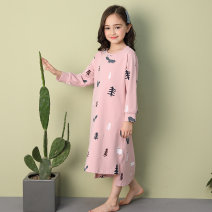 Home skirt / Nightgown CQ03 Fall 2018 princess 11-13 years old or above 13 years old 3-5 years old 5-7 years old 7-9 years old 9-11 years old female Keep warm at home spring and autumn Bambi Cotton 100% cotton Class B Chinese Mainland Zhejiang Province Huzhou City