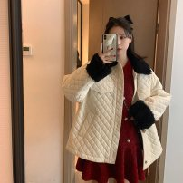 Women's large Spring 2021 gules S = 1, M = 2, large L = 3, large XL = 4 Other oversize styles singleton  commute Long sleeves Solid color Korean version V-neck routine 81% (inclusive) - 90% (inclusive) Medium length