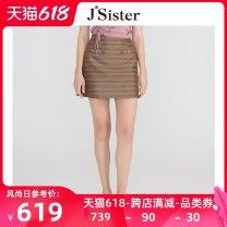 skirt Polyester 100% Same model in shopping mall (sold online and offline) Summer 2021 Short skirt Natural waist More than 95% A-line skirt Versatile polyester fiber stripe 25-29 years old JSister S122112124 S/155 M/160 L/165 Brown