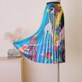 skirt Spring of 2019 S,M,L,XL,2XL Lake blue Mid length dress Versatile High waist Pleated skirt Animal design Type A Da Yi Chuang Fold, print