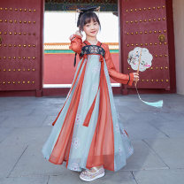Tang costume Orange 110,120,130,140,150,160 Polyester 100% female spring and autumn There are models in the real shooting other Class B 7, 8, 14, 3, 13, 11, 5, 6, 4, 10, 9, 12 Chinese Mainland Zhejiang Province Huzhou City