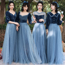 Dress / evening wear Weddings, adulthood parties, company annual meeting, performance date S M L XL XXL XXXL fashion longuette middle-waisted Winter 2020 Fall to the ground One shoulder Bandage 18-25 years old XP202011121 Xuanping Polyester 100% Exclusive payment of tmall