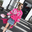 T-shirt rose red S,M,L Summer of 2018 three quarter sleeve Hood easy Medium length routine street cotton 96% and above 25-29 years old youth Letters, numbers, solid colors Ccqueen LTC228 Asymmetry, printing Sports & Leisure