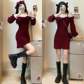 Dress Autumn 2020 Red skirt, black skirt S [80-90 Jin], m [90-100 Jin], l [100-120 Jin], XL [120-135 Jin], 2XL [135-150 Jin], 3XL [150-165 Jin], 4XL [165-180 Jin]