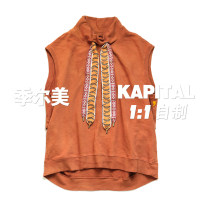 Vest / vest Youth fashion Others S,M,L Purple, orange Other leisure easy Vest thick Crew neck youth 2021 Japanese Retro Solid color Socket Rib hem cotton More than 95%