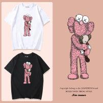 T-shirt Bunny 80cm 90cm 100cm 110cm 120cm 130cm 140cm 150cm 160cm 170cm 160/XS 165/S 170/M 175/L 180/XL 185/XXL 190/XXXL neutral summer Short sleeve Crew neck Cartoon No model nothing cotton Cartoon animation Cotton 100% Class B Summer 2020