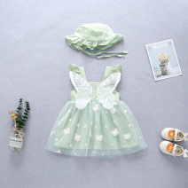 Dress Wing skirt Yellow + Hat wing skirt green + Hat wing Skirt Pink + Hat wing Skirt Blue + Hat female Allen rabbit 66cm 73cm 80cm 90cm Cotton 95% other 5% lady Skirt / vest Broken flowers cotton A-line skirt ALT21024 Class A Summer 2021 3 months 12 months 6 months 9 months 18 months 2 years old