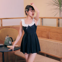 one piece  VICKI·VICKI Female m (recommended 80-100kg) female L (recommended 100-112kg) female XL (recommended 112-125kg) black Skirt one piece With chest pad without steel support Spandex polyester others V20170 Winter of 2019 female Sleeveless