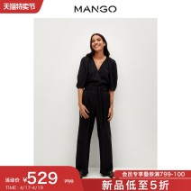 Casual pants black 155/80A/S 160/84A/M 165/88A/L 170/92A/XL 175/96A/XXL Spring 2021 trousers Jumpsuit High waist 25-29 years old 51% (inclusive) - 70% (inclusive) MANGO Viscose Viscose (viscose) 65% polyester 35% Same model in shopping mall (sold online and offline)
