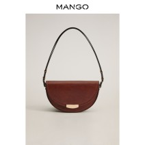 Bag The single shoulder bag PU other MANGO Black Medium Brown brand new Small leisure time hard no One shoulder cross youth Artificial leather Autumn 2020 Same model in shopping mall (sold online and offline)