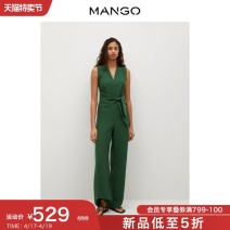 Casual pants green 155/80A/S 160/84A/M 165/88A/L 170/92A/XL 175/96A/XXL Spring 2021 trousers Jumpsuit Natural waist routine 81% (inclusive) - 90% (inclusive) MANGO Lyocell 90% polyester 10% Same model in shopping mall (sold online and offline)