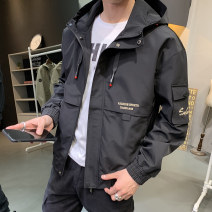 Jacket Waldendy Youth fashion 05 black 1906 Beige (one size larger) 1906 black (one size larger) L XL 2XL 3XL 4XL 5XL 6XL 7XL 8XL thin standard Other leisure spring J-03 Polyester 100% Long sleeves Wear out Hood Military brigade of tooling routine Zipper placket Rib hem Closing sleeve Solid color