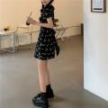 Dress Summer 2021 Short sleeve singleton  Short skirt commute V-neck routine High waist Condom Broken flower 18-24 years old A-line skirt 81% (inclusive) - 90% (inclusive) Type A Z Korean version Other S,M