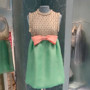 Dress Spring 2021 Picture color S,M,L Short skirt Fake two pieces Sleeveless Sweet Crew neck High waist Solid color zipper A-line skirt other camisole 18-24 years old Type A Bows, beads, nets 31% (inclusive) - 50% (inclusive) other polyester fiber princess