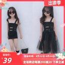 Dress Black one-piece wrap skirt, black yarn waist cover, two-piece wrap skirt waist cover female Other / other 80cm,90cm,100cm,110cm,120cm,130cm,140cm,150cm Other 100% 2, 3, 4, 5, 6, 7, 8, 9, 10 years old
