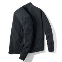 Jacket Gebotoo / geboto Fashion City Black Khaki dark grey M L XL 2XL 3XL 4XL routine Self cultivation Other leisure winter GBT-61902 Polyester 100% Long sleeves Wear out Baseball collar tide youth routine Zipper placket Rib hem No iron treatment Closing sleeve Winter 2020 More than two bags)