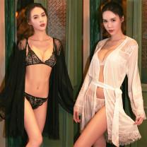 Pajamas / housewear set female Beau poeme Average size White, black nylon