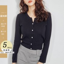 Wool knitwear Autumn 2020 S M L XL Long sleeves singleton  Cardigan other More than 95% Regular routine commute Straight cylinder V-neck routine Solid color Single breasted ST3014-2 25-29 years old Little girl Button Other 100% Pure e-commerce (online only)