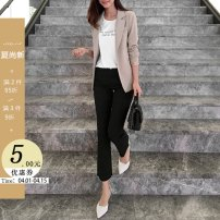 suit Winter of 2019 S M L Long sleeves routine Self cultivation tailored collar A button commute routine Solid color 25-29 years old 96% and above other Little girl Other 100% Pure e-commerce (online only)