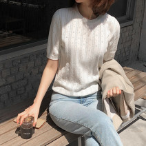 Wool knitwear Summer of 2019 S M L XL White black apricot royal blue two pack (white + Black) two pack (white + apricot) two pack (white + royal blue) two pack (black + apricot) two pack (black + royal blue) two pack (apricot + royal blue) Short sleeve singleton  Socket other More than 95% Regular