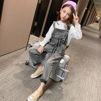 trousers female 110cm 120cm 130cm 140cm 150cm 160cm grey spring and autumn There are models in the real shooting rompers other Class B Spring 2020 4 years old, 5 years old, 6 years old, 7 years old, 8 years old, 9 years old, 10 years old, 11 years old, 12 years old, 13 years old