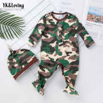 Jumpsuit / climbing suit / Khaki Other / other Class A female cotton spring and autumn Long sleeves Long climb Europe and America newborn