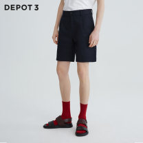 Casual pants Depot3 Youth fashion Tibetan green S M L XL XXL routine Shorts (up to knee) Other leisure Self cultivation Micro bomb 50A1D2C42 summer youth tide 2019 middle-waisted Straight cylinder Polyester 63.4% cotton 36.6% Solid color polyester fiber Summer of 2019