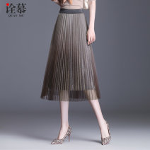 skirt Spring 2021 One size fits all (elastic waist) Black blue coffee Pink Mid length dress commute High waist A-line skirt other Type A QM-20122813 More than 95% An interpretation of Mu polyester fiber Gauze Korean version Polyester 97% other 3% Pure e-commerce (online only)