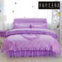 Bedding Set / four piece set / multi piece set spandex Quilting heart-shaped 128x68 cotton 4 pieces 40 Bed skirt Qualified products Princess style 100% cotton twill Reactive Print  Thermal storage
