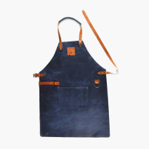 apron Blue, brown grey pocket, Blue Pocket Sleeveless apron antifouling Simplicity Cooking / baking / barbecue Average size Boska public yes Solid color