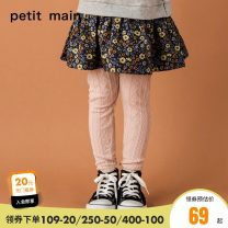trousers PETIT MAIN female 80cm 90cm 100cm 110cm 120cm 130cm Benbai-02 light powder-15 spring and autumn trousers solar system There are models in the real shooting Leggings Leather belt middle-waisted blending Don't open the crotch 9683130-1 Class A Spring of 2019